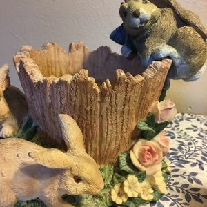 Holiday - Cute Easter planter with three fun furry friends.